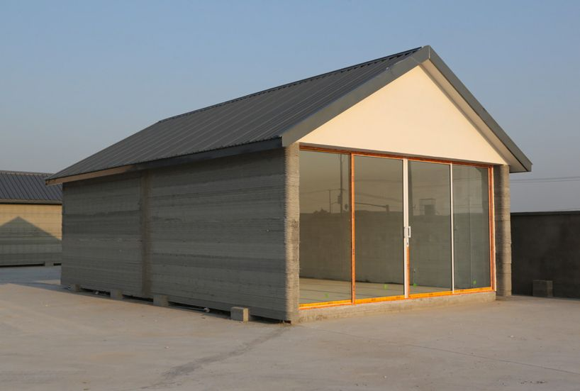 China Recycled Concrete Houses 3D-Printed in 24 Hours
