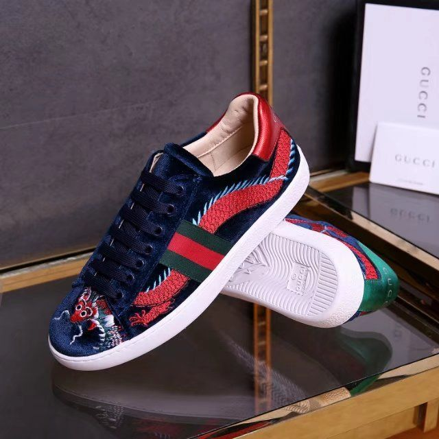 eae67c576ce Replica GUCCI Ace embroidered sneaker velvet Style 473756 2017 Size ...