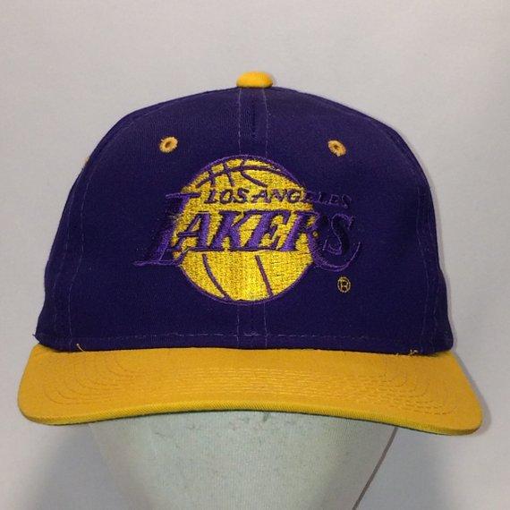 00a8145b Vintage Los Angeles Lakers Snapback Hats Purple Gold NBA Basketball Dad Hat  T13 JL8054