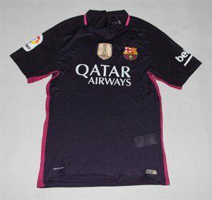 d382f71c4e0 FC Barcelona 16-17 Season Away Black Soccer Jersey with Sponsor  D359