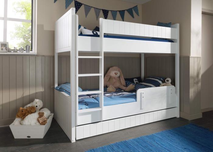 Dreier Etagenbett : Etagenbett robin weiß möbilia kinderzimmer