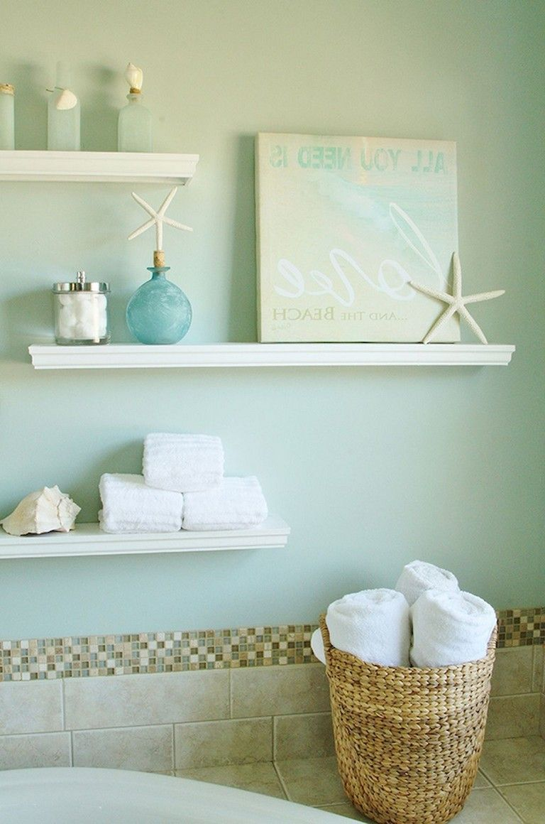 59 Gorgeous Coastal Beach Bathroom Decoration Ideas Bathroom