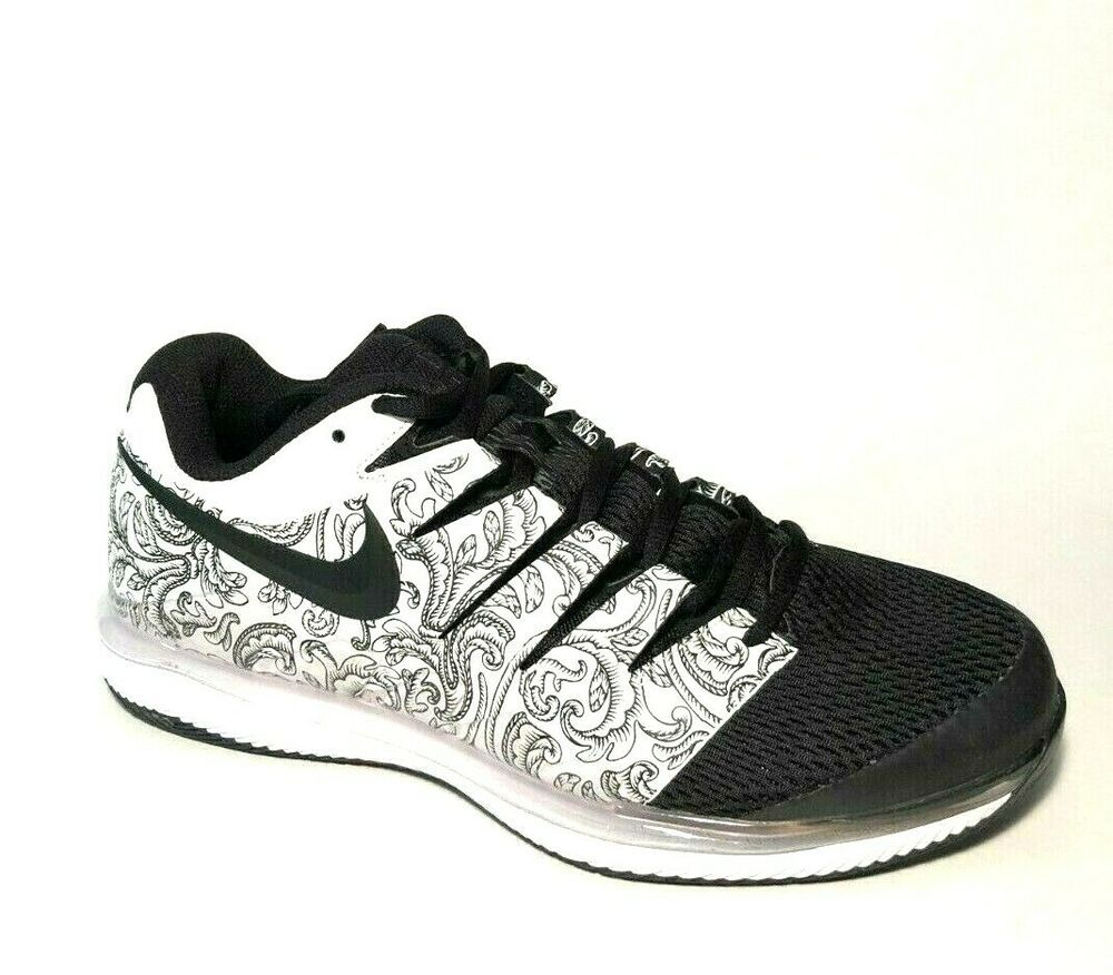 Nike Air Zoom Vapor X Hc Tennis Shoes Mens 10 Aa8030 103 Black White Nike Casual In 2020 Nike Tennis Nike Air Zoom Shoes Mens