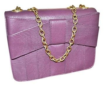 aec139594f0449 Zac Posen New Z Spoke Leather Baby Satchel Hard Box Mini Boysenberry Berry  PLUM Cross Body