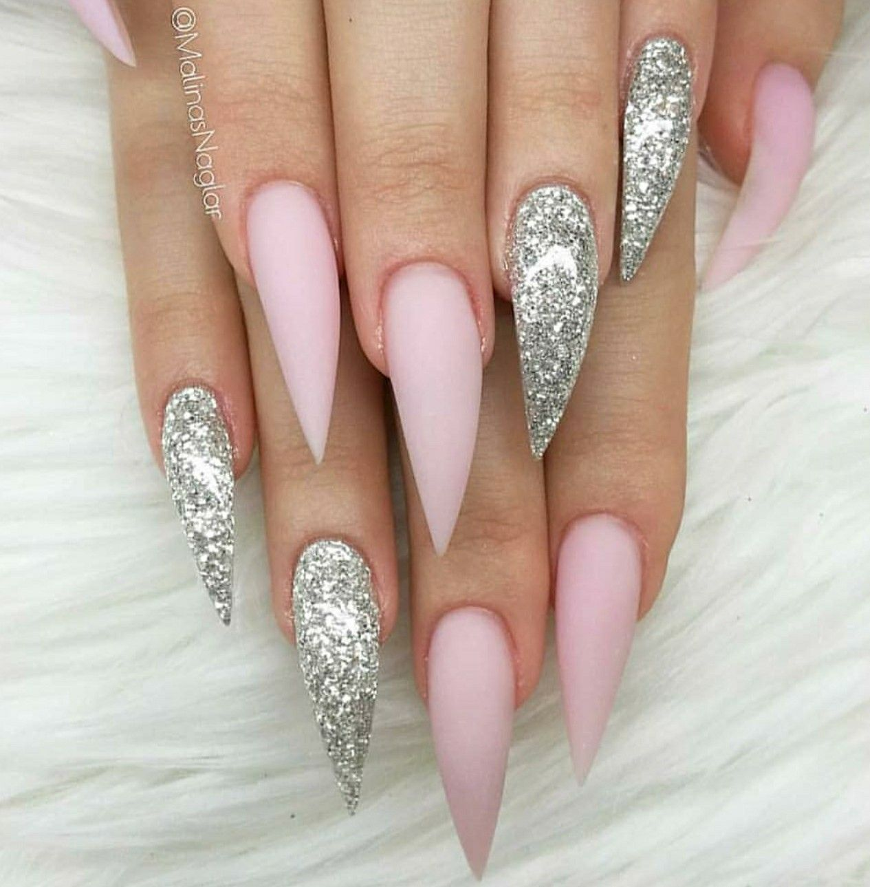 Stiletto Nails Pink Stiletto Nails Pink Nails Glitter Nails