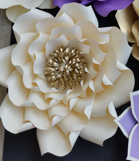 Paper flower template, paper flower template ONLY. DIY paper flower ...