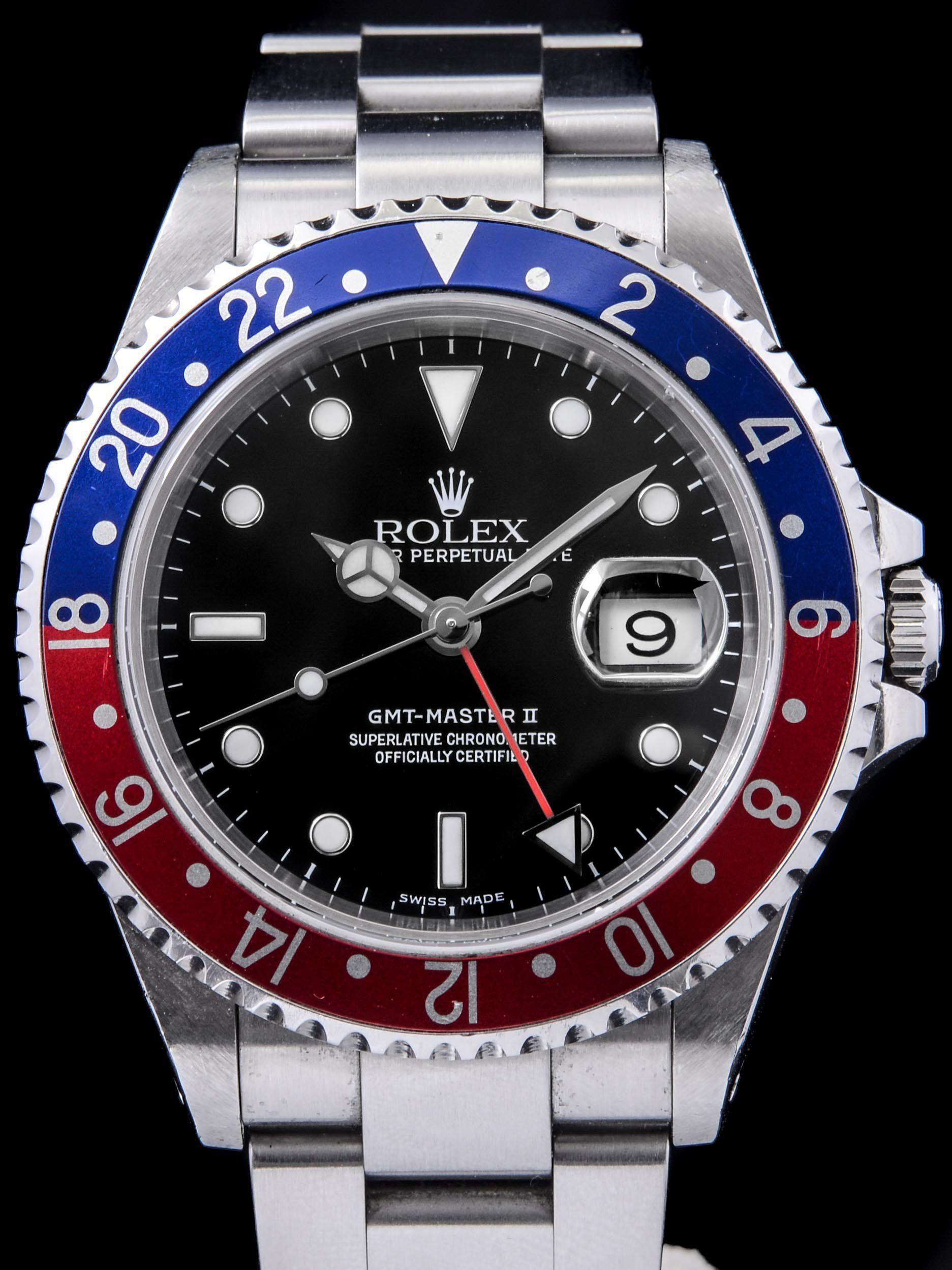 2002 Rolex Gmt Master Ii Ref 16710 Rolex Gmt Master Ii Rolex Gmt Master Rolex Gmt