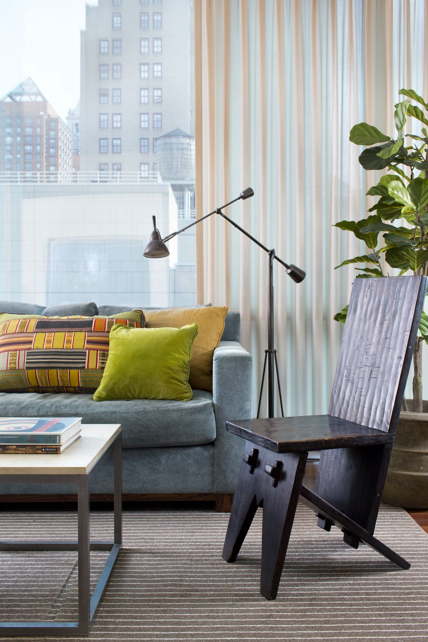 Modern And Multicultural In Nyc Living Midcenturymodern Contemporary Eclectic By Glenn Gissler Living Room Designs Interior Design Bedroom Sets