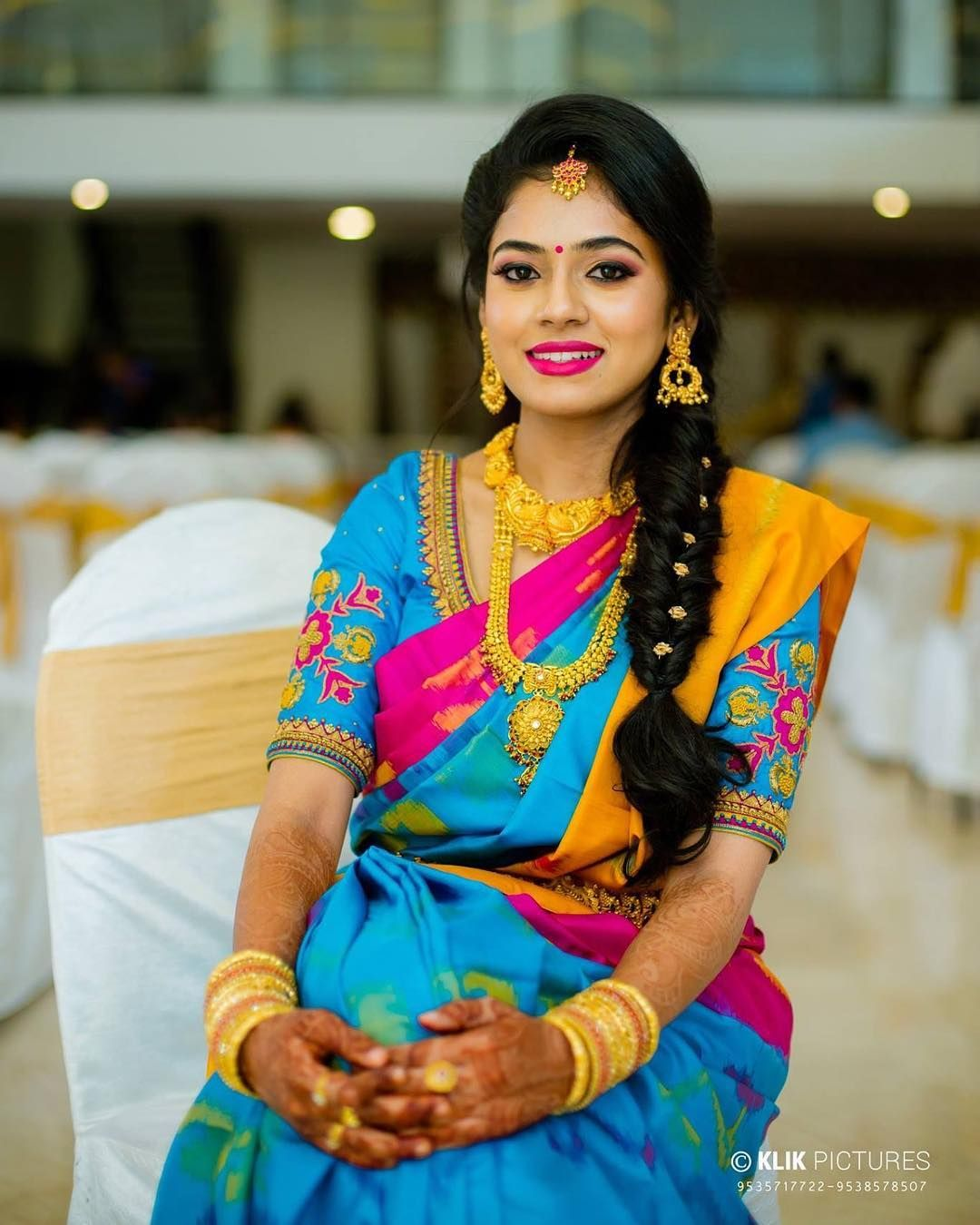 Wedding Hairstyle On Saree: 23 Trending Pattu Saree Color Combinations Of This Season