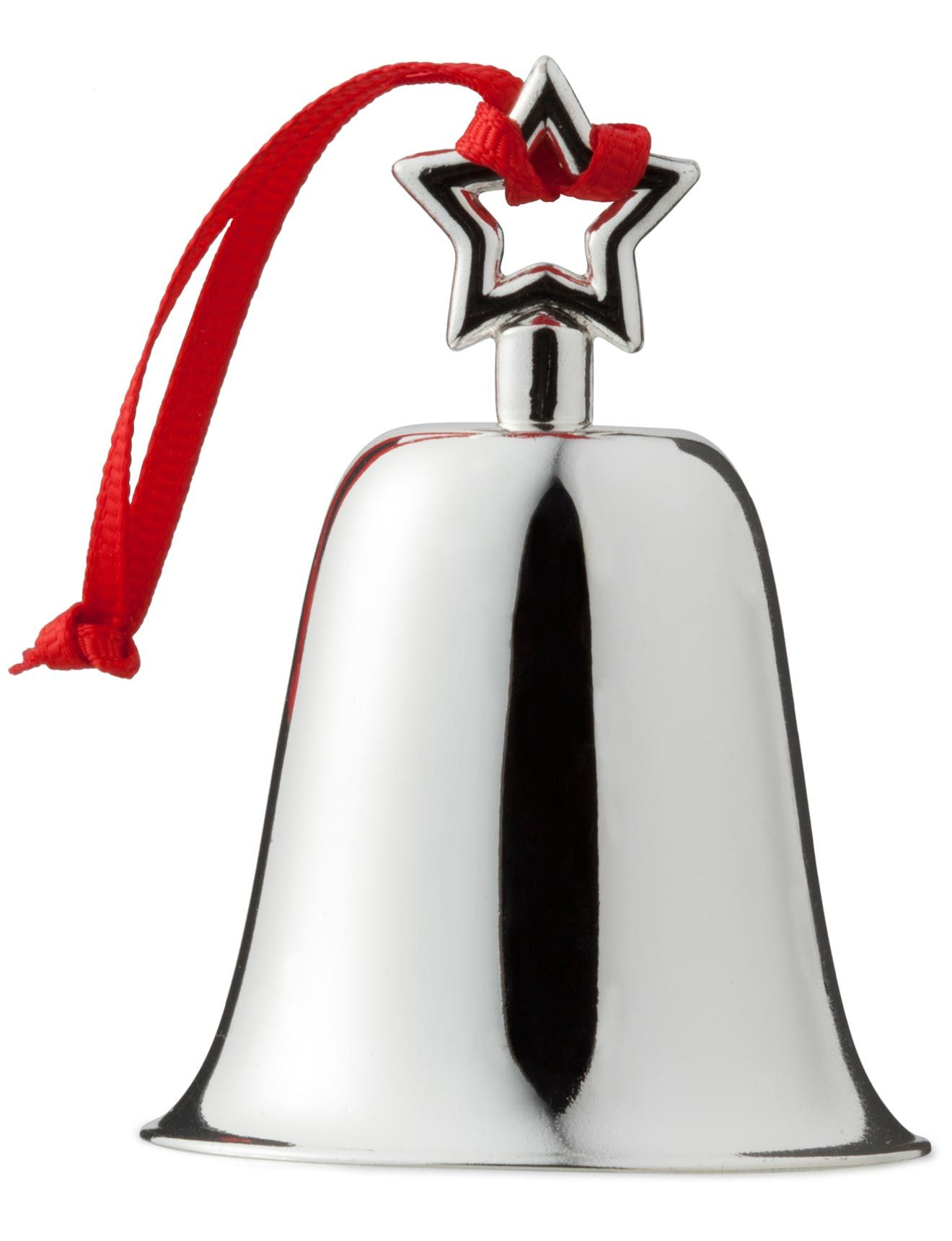 Bell Decorations Christmas Shop Silver Plated Bell Ornament  Ornaments  Pinterest