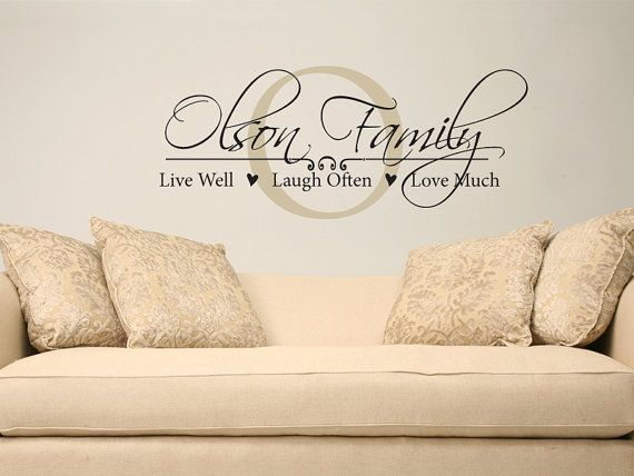family name live well laugh often love much personalized name vinyl