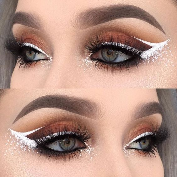 12 White Eyeliner Looks That Will Elevate Your Makeup Game