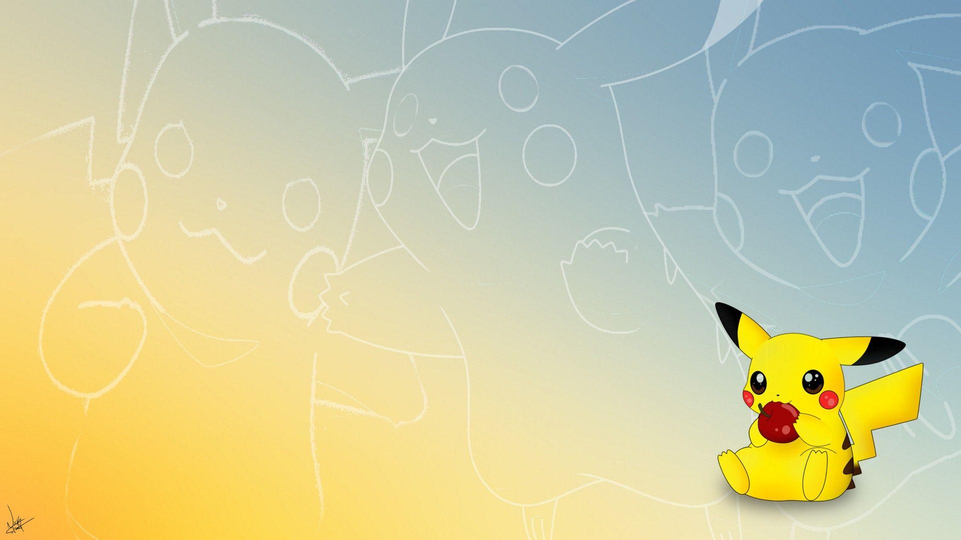 Desktop Wallpaper Light Yellow (With images) Pikachu