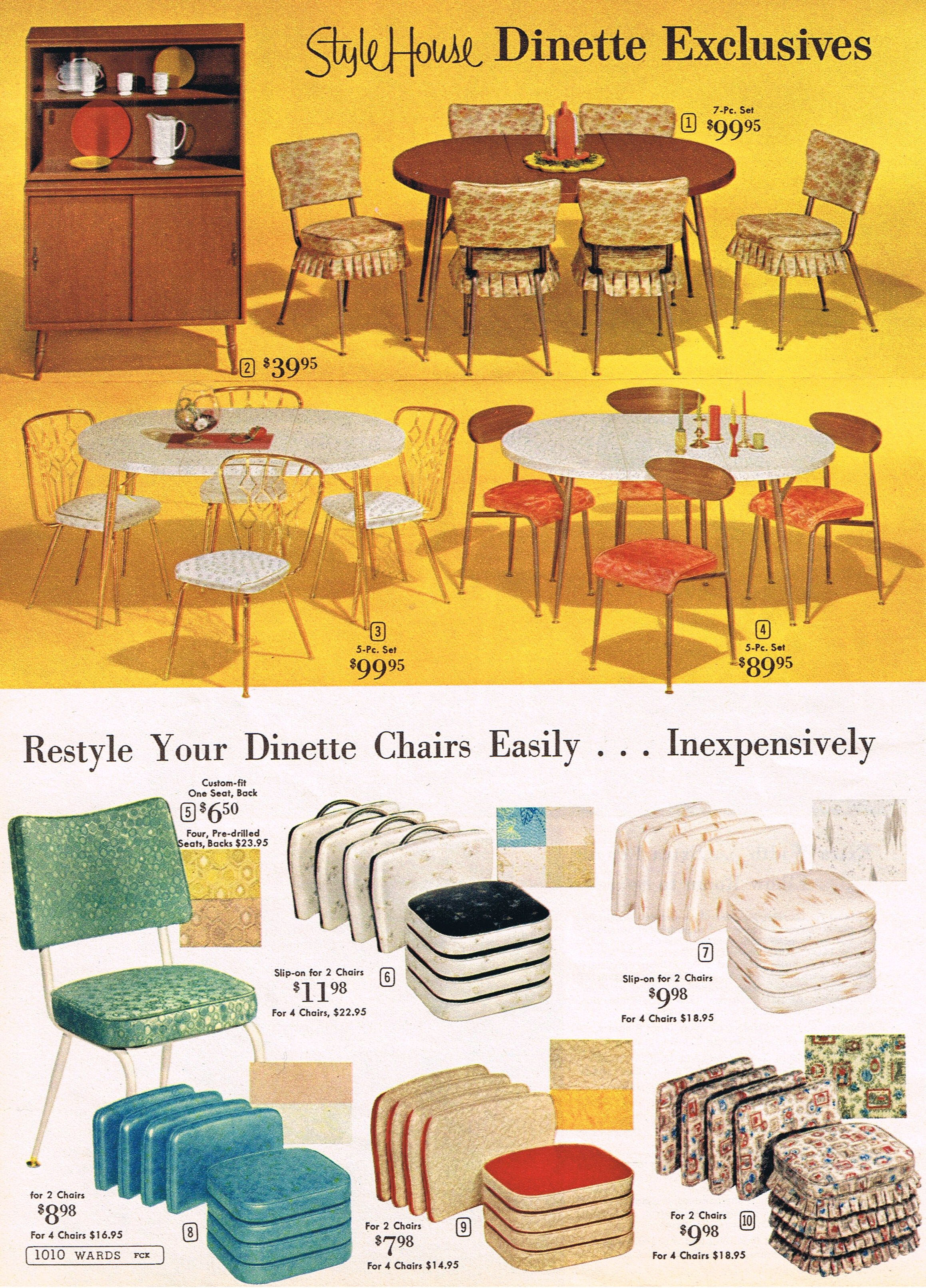 Wards\' dinette sets and chair cushions, 1964 | The Mid Century Mail ...