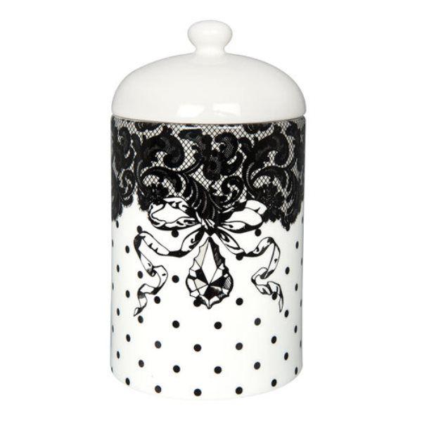 pot coton black and white mathilde m mathilde m d coration cosy pour maison de charme. Black Bedroom Furniture Sets. Home Design Ideas