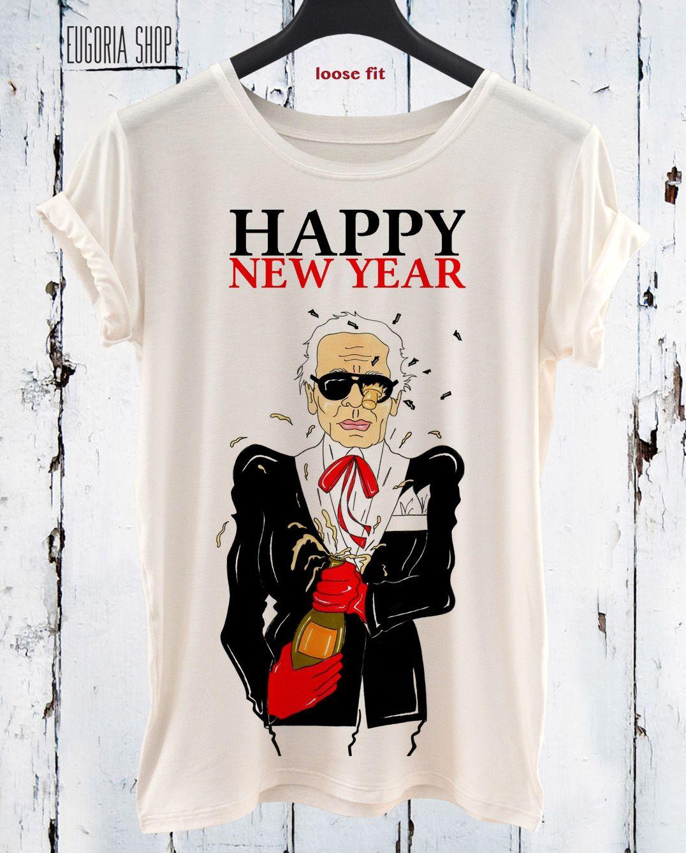 140e5f1a4 Happy New Year funny t shirt, pop art t shirt, Funny design print t-shirt,  All sizes xxl, 3xl, 4xl, 5xl, LONG and SHORT sleeve