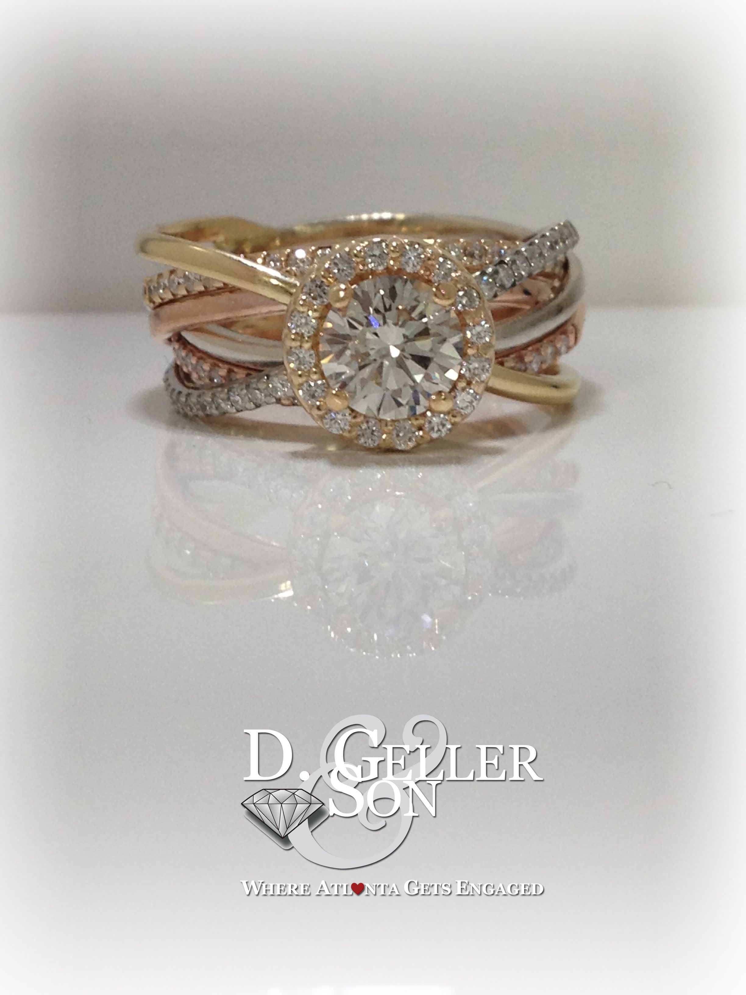 Custom Six Band Tri Gold Wred Engagement Ring Bands Compose This