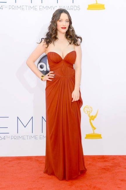 Staff-favorite Kat Dennings wow'ed at the Emmys in J. Mendel