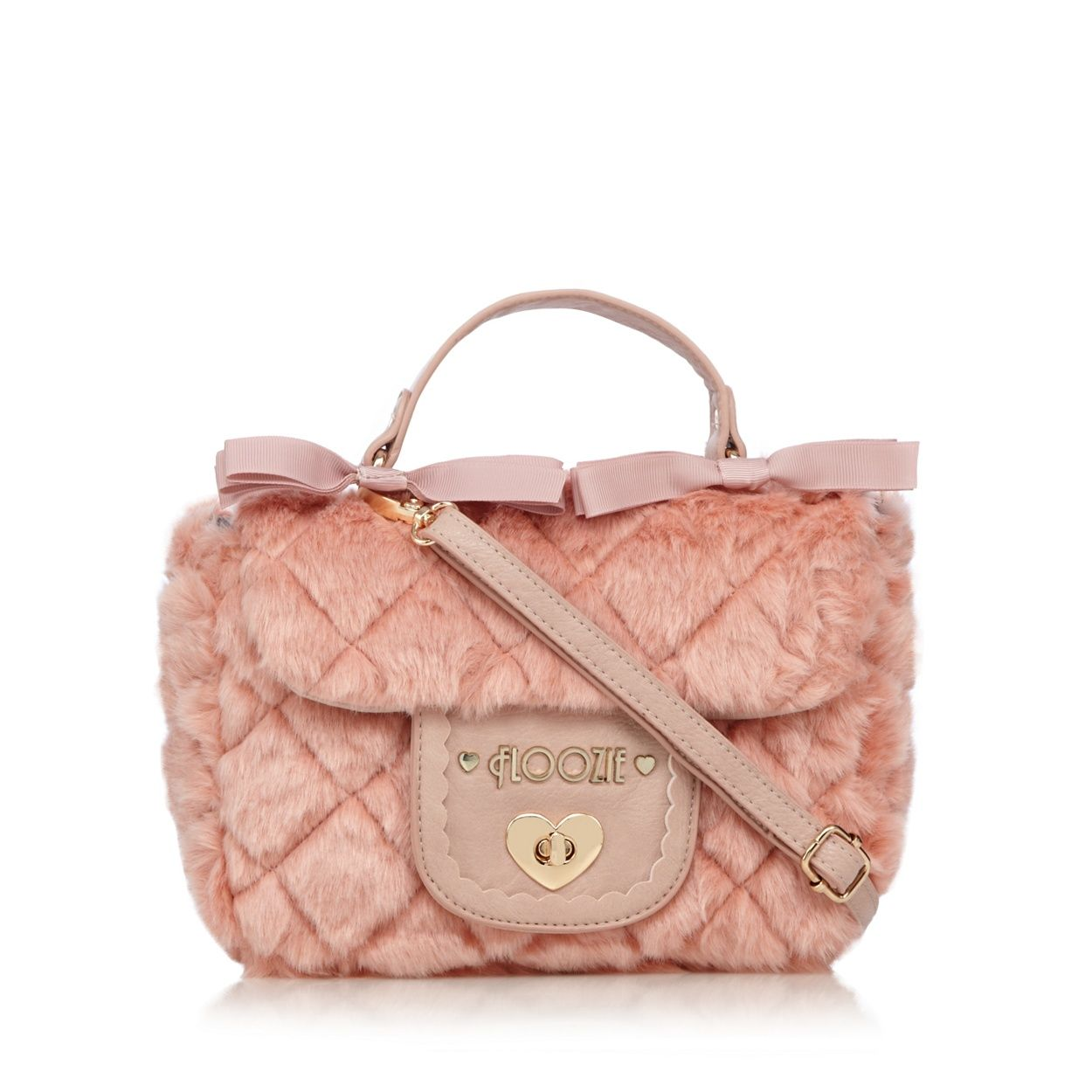 Floozie by Frost French Light pink quilted faux fur grab bag- at Debenhams.com
