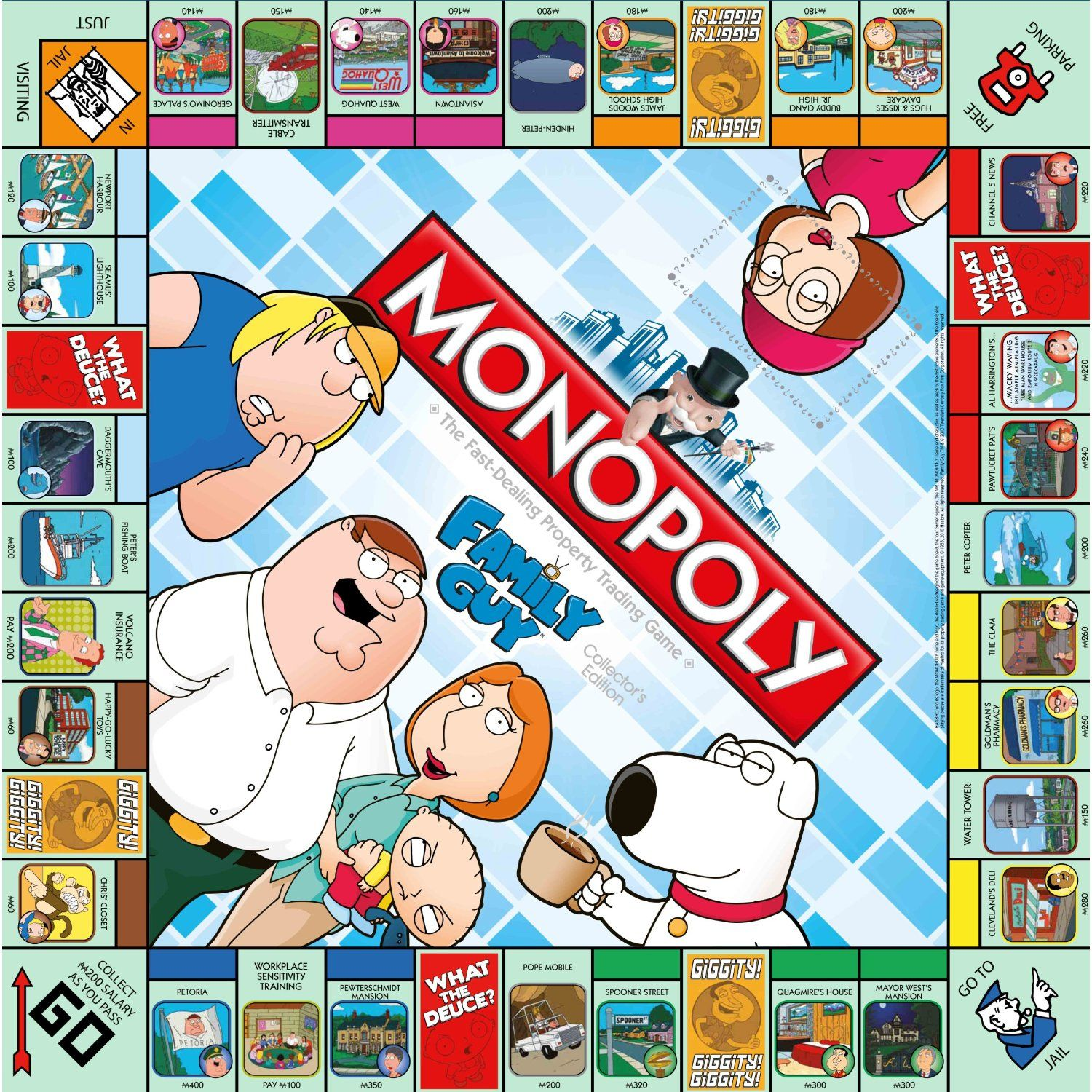 Monopoly Game Board Enlarge FamilyGuyMonopoly Games