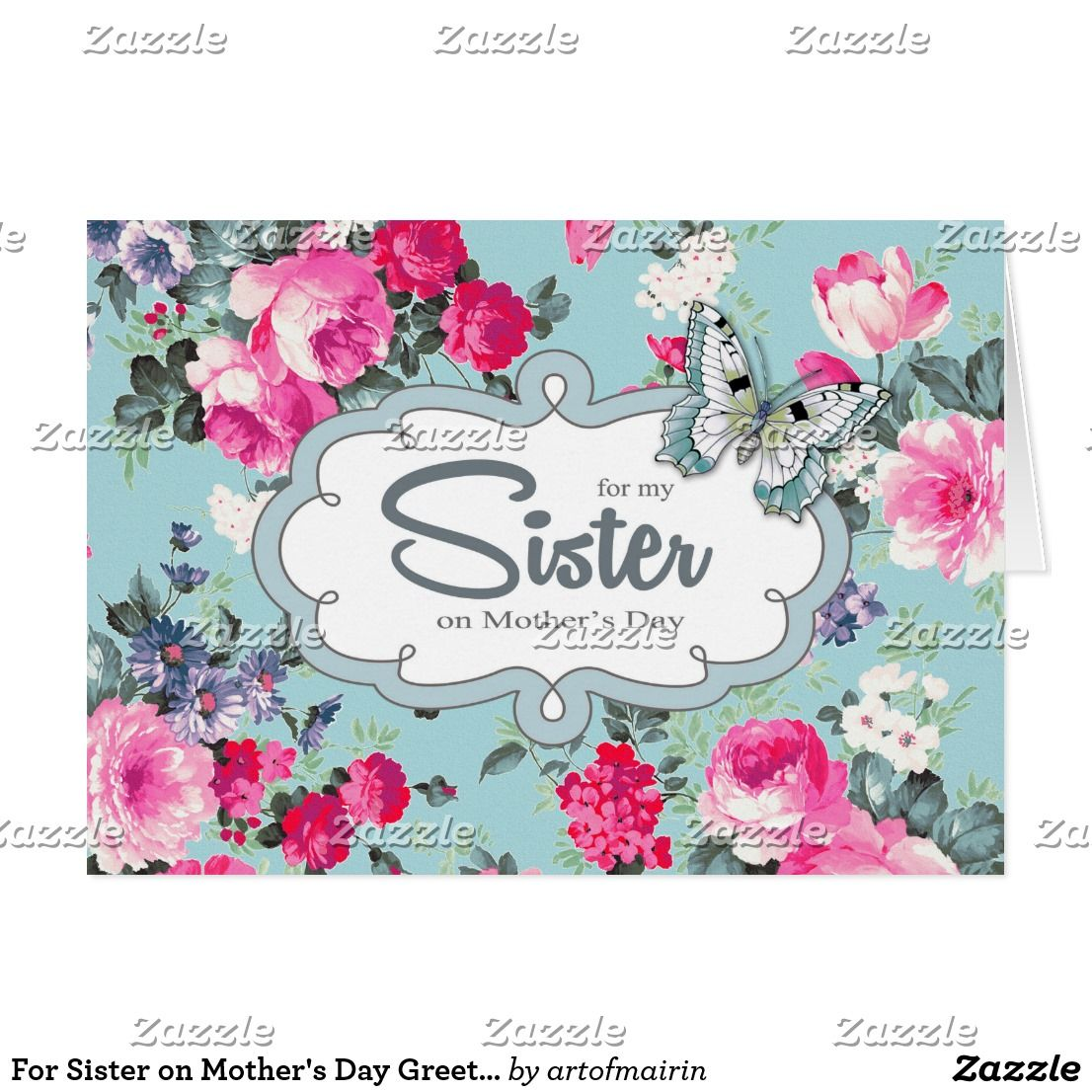 For sister on mothers day greeting cards