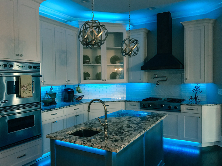 Full Color Led Under Cabinet Kitchen Accent Lighting By Railtech