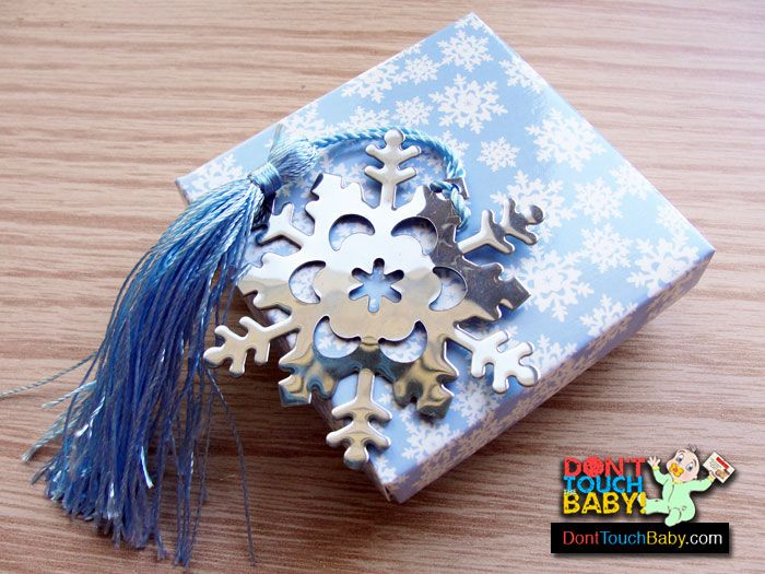 Snowflake Bookmark with Tassel  #snowflake #winter #bookmark #babyshower #Christmas #holiday #gifts
