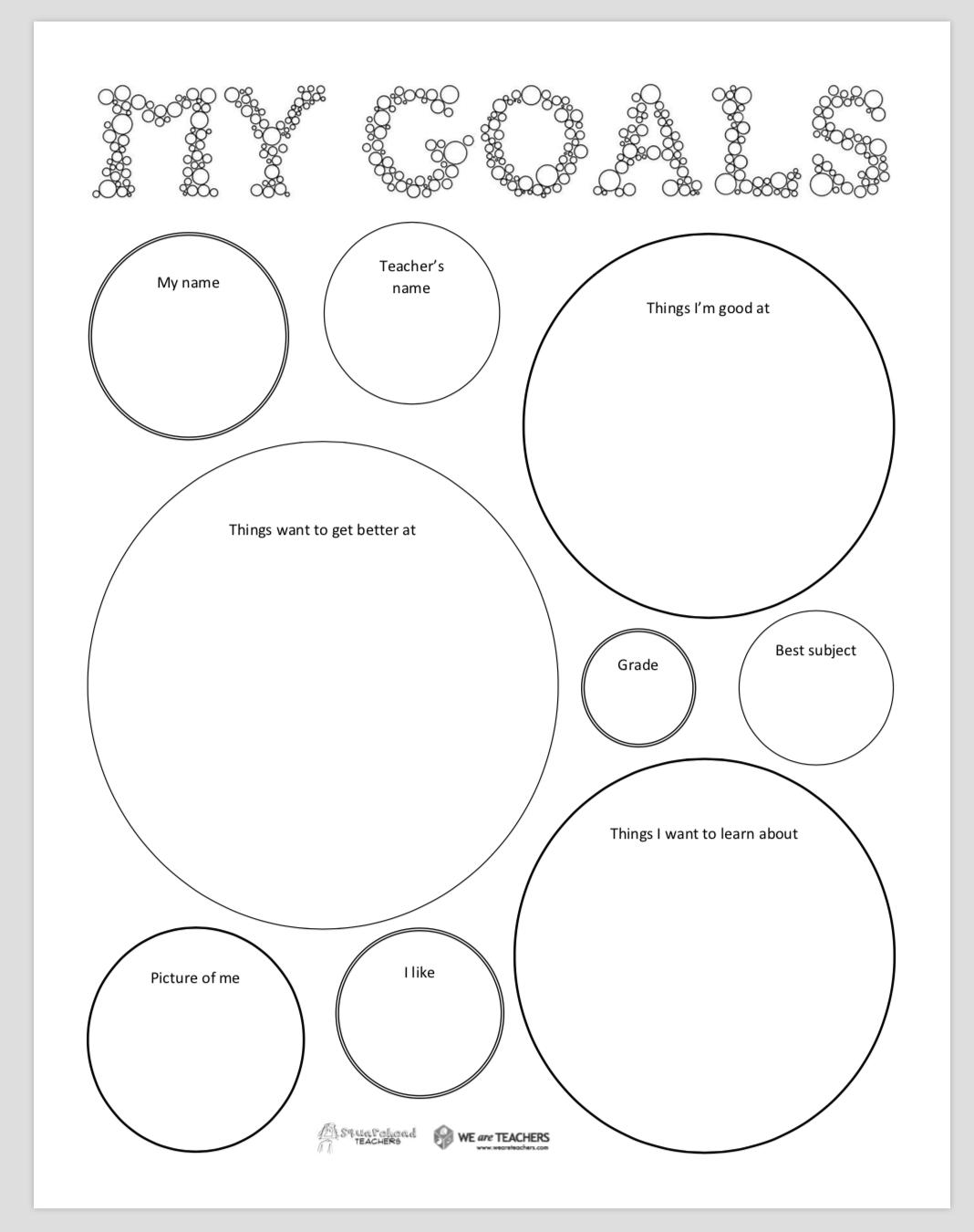 Free Printable Back To School Goal Setting