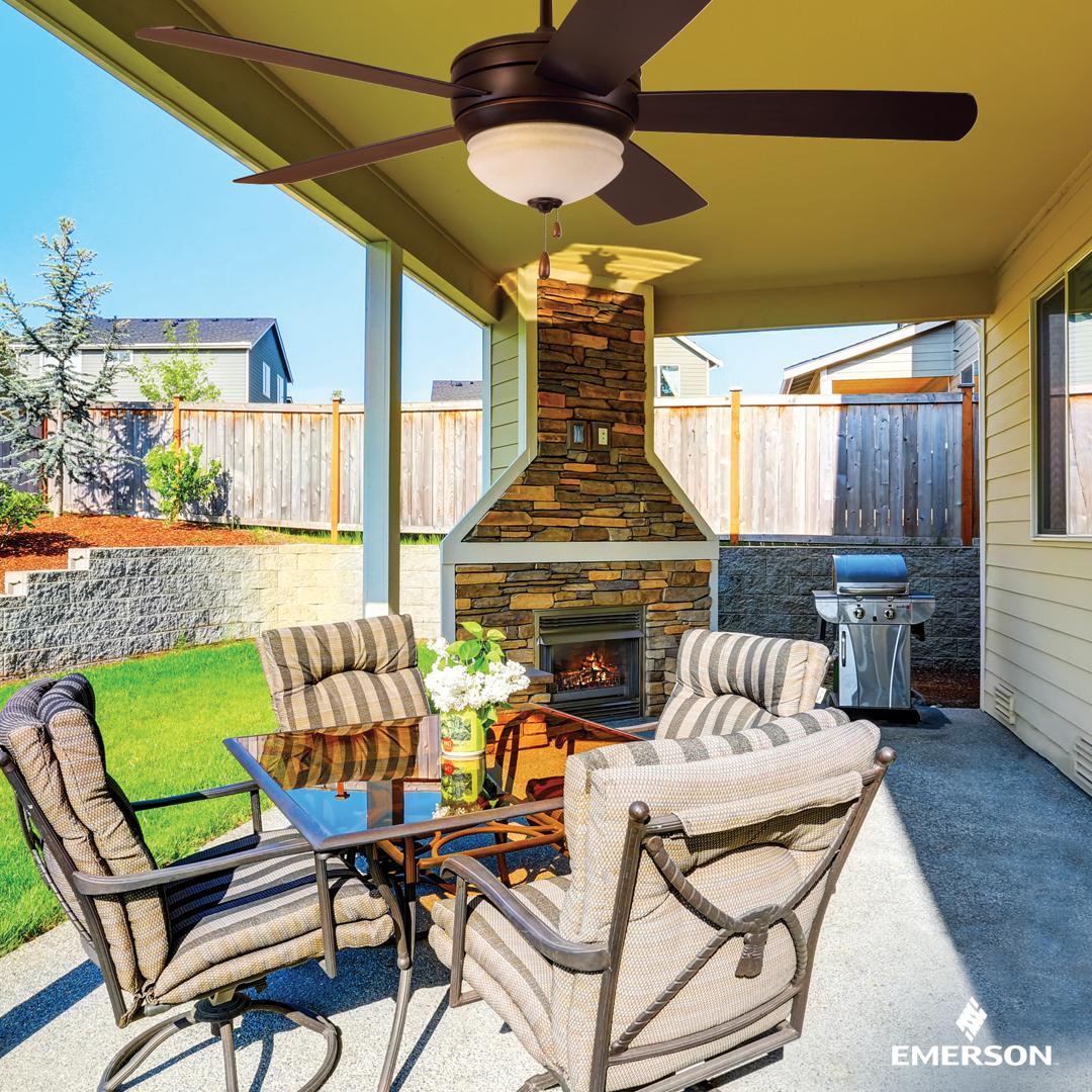 Emerson Cf850ges Summerhaven Golden Espresso 52 Outdoor Ceiling Fan With Light Outdoor Ceiling Fans Ceiling Fan Outdoor