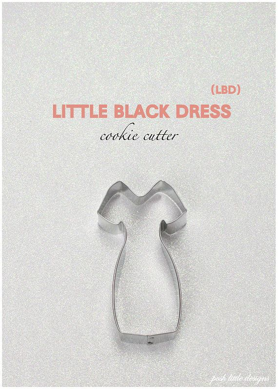 Little Black Dress Cookie Cutter, Gown, Fashion Cookies, Cookie ...