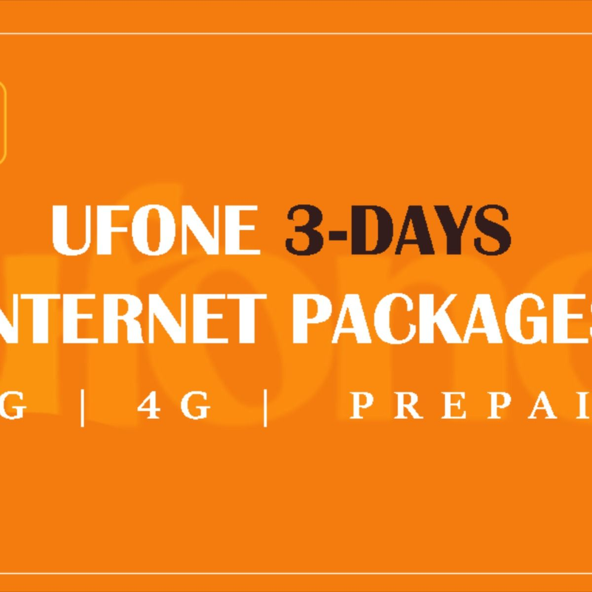 Ufone Internet Packages 3g 4g Hourly Daily Weekly In 2020 Internet Packages Packaging Emergency Loans