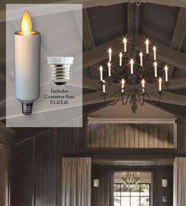 Moving Flame Chandelier Bulb For Candelabra Base Or E26 Sockets