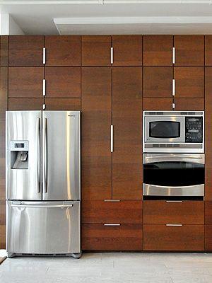 cabinets frig depth built