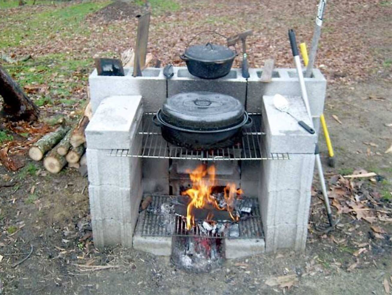 Cheap outdoor grill. Camping. | Grilling | Diy outdoor ...