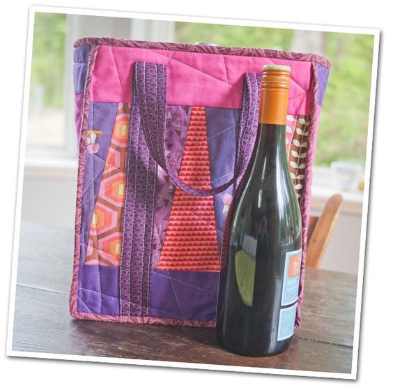 Reversible 6 Bottle Wine Tote Wine Purse Wine Tote Wine Bottle Bag