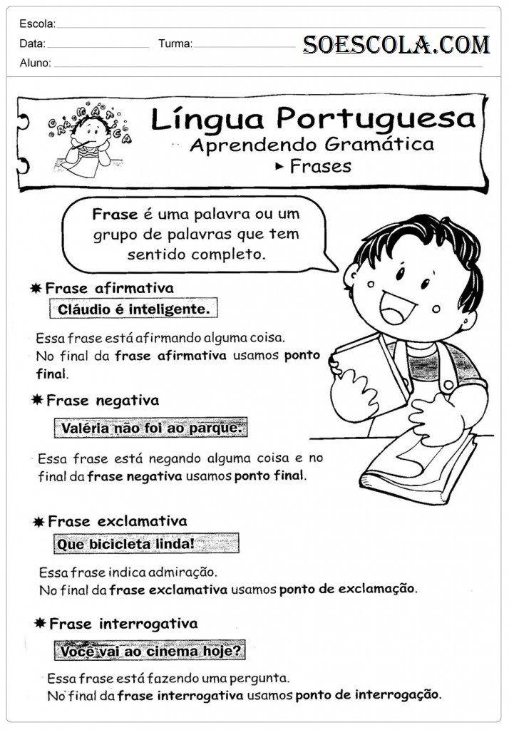 Atividades de Português 3º ano Para Imprimir – Ensino ...
