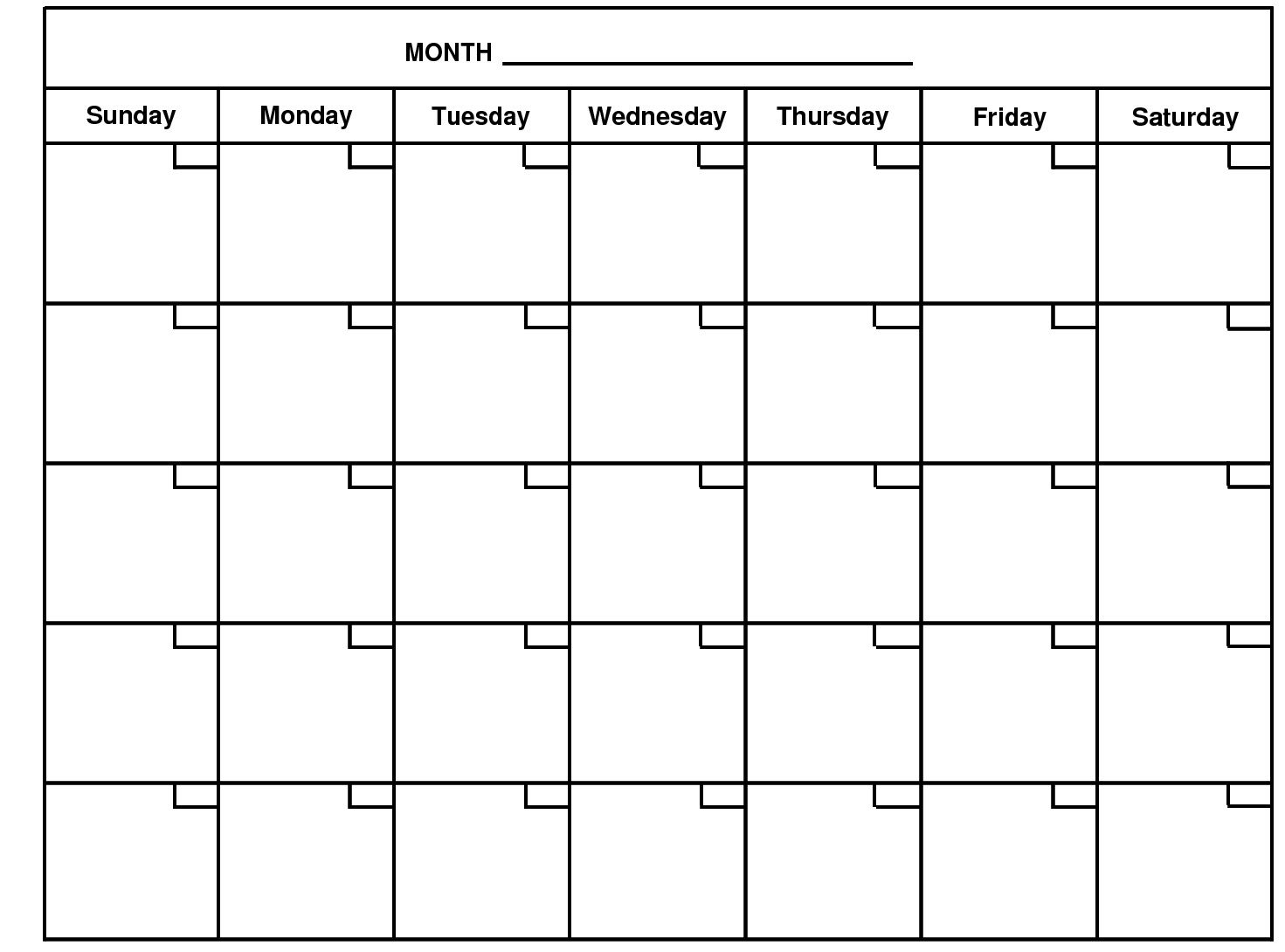 Calendar Monthly : Month calendar monthly projects to try