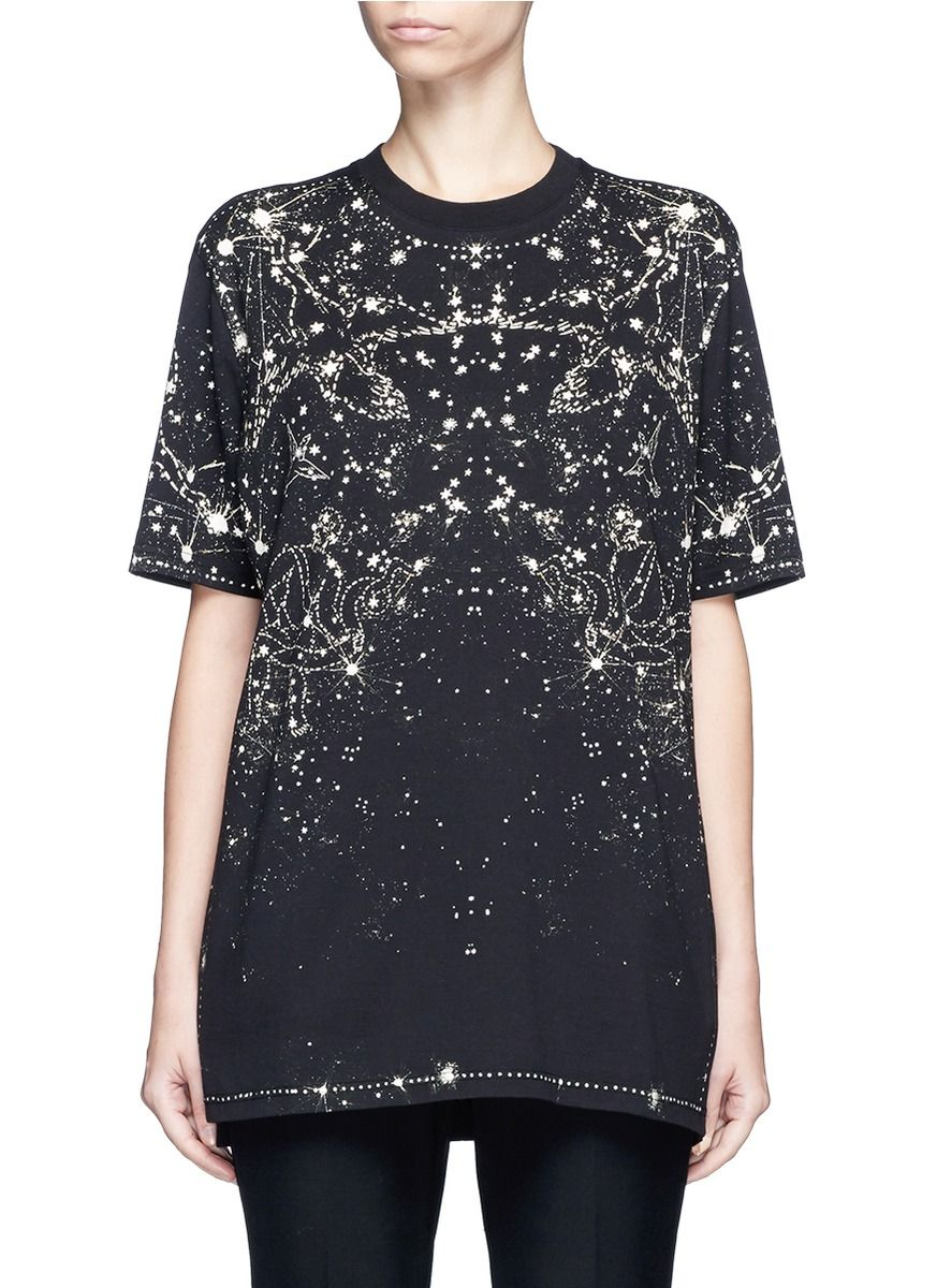cloth Shirt Cotton Shirt Givenchy Constellation Print givenchy T t B8v1BYwq