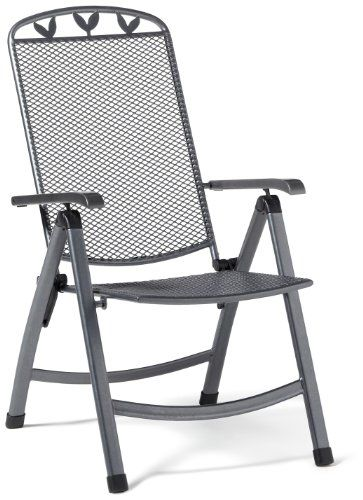 Greemotion Klappsessel Toulouse Anthrazit Schwarz Silber Artikelmasse Ca 58 X 64 X 108 Cm Amazon De Garten Outdoor Decor Outdoor Chairs Outdoor Furniture