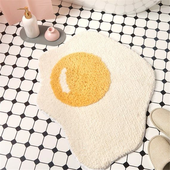 Creative Egg Bath Mat Bathroom Carpet Non Slip Ent