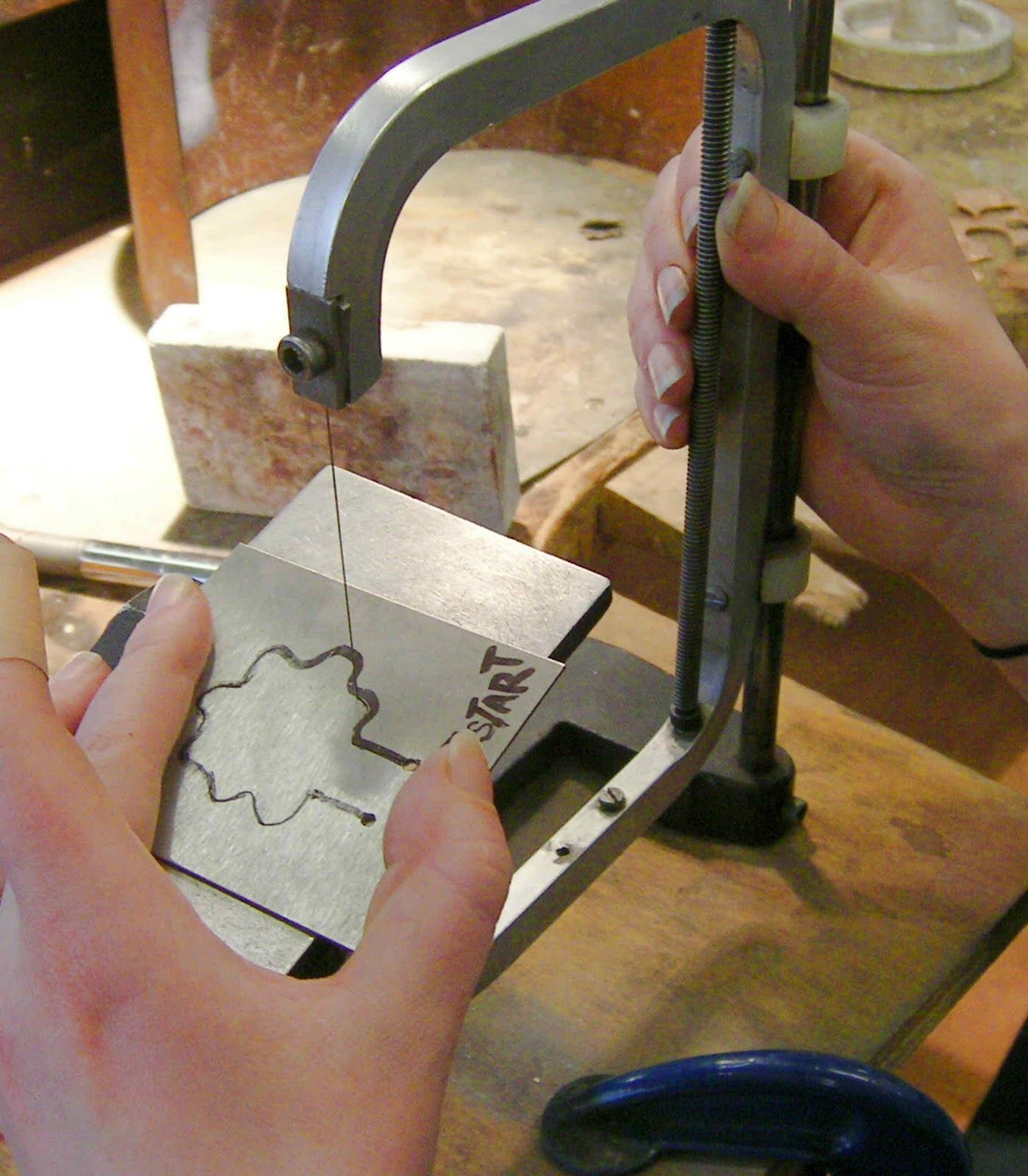 Making a tool stamp for stamping out flat metal shapes. | FluxPlay.
