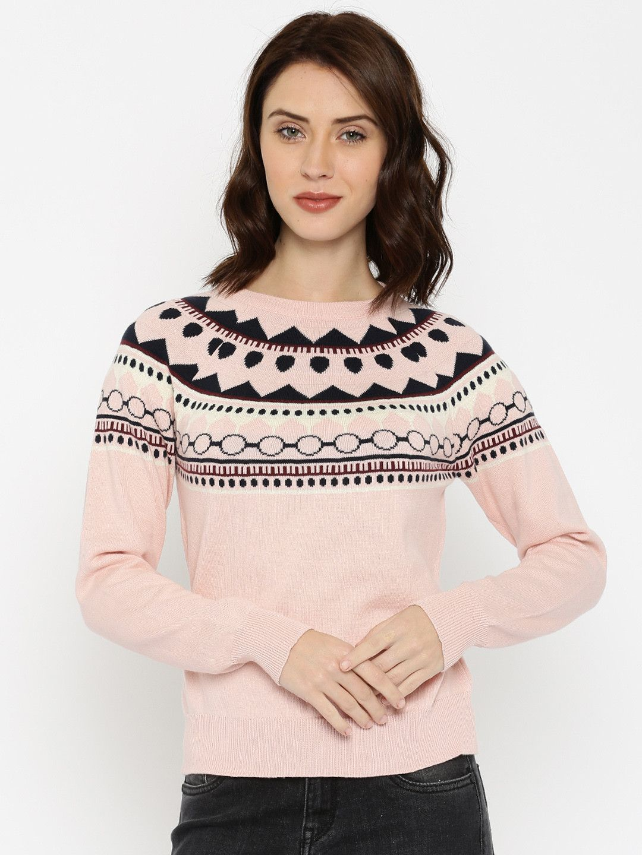 a5b27ec239e DressBerry Pink Self-design Sweater