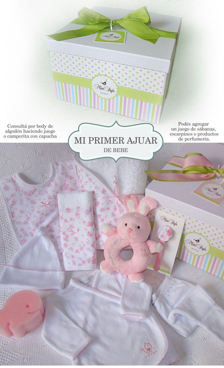 009166d66 Regalo Nacimiento Bebe Mi Primer Ajuar En Caja Personalizada -   790 ...