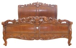 Carved Sleigh Bed | 4 Post Beds | Four Post Bed | Wood Post Beds | UltimateCarver.com