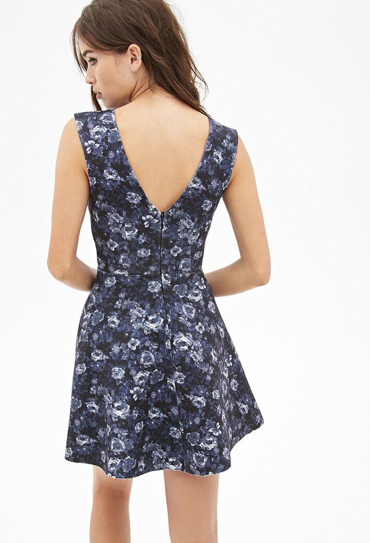 Floral Scuba Knit Dress