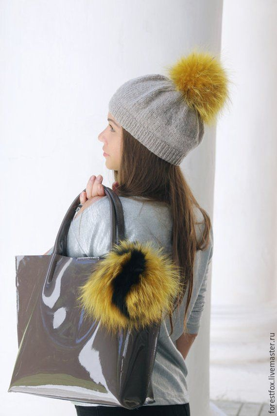 Real fur bag charm 0df4927906e8a