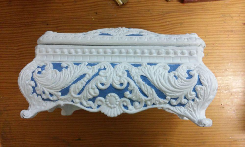 Caja estilo ingl s de resina figuras decorativas - Estilo ingles decoracion interiores ...