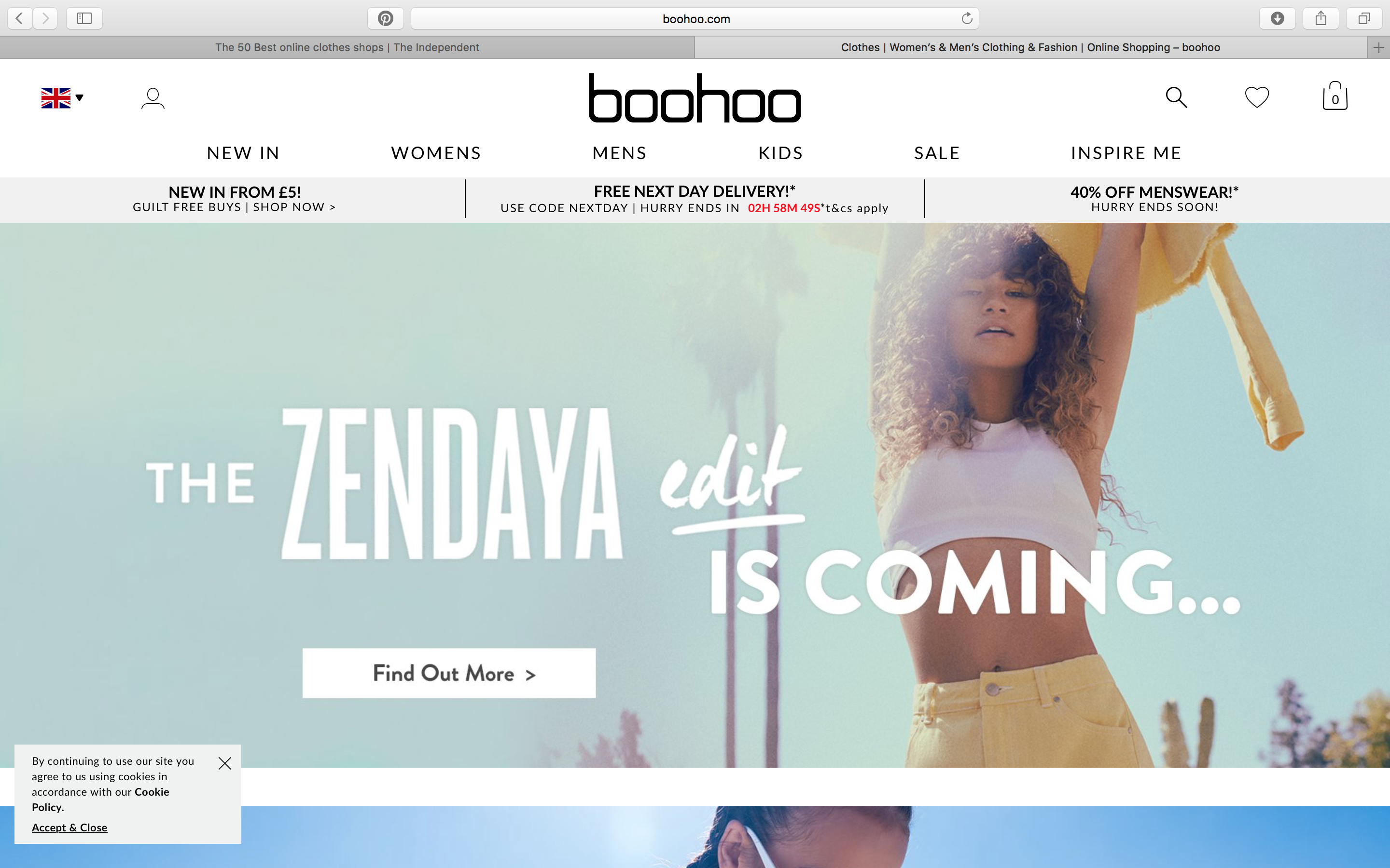 98b04409d79 boohoo | Fashion e-commerce landing pages | Online shopping clothes ...