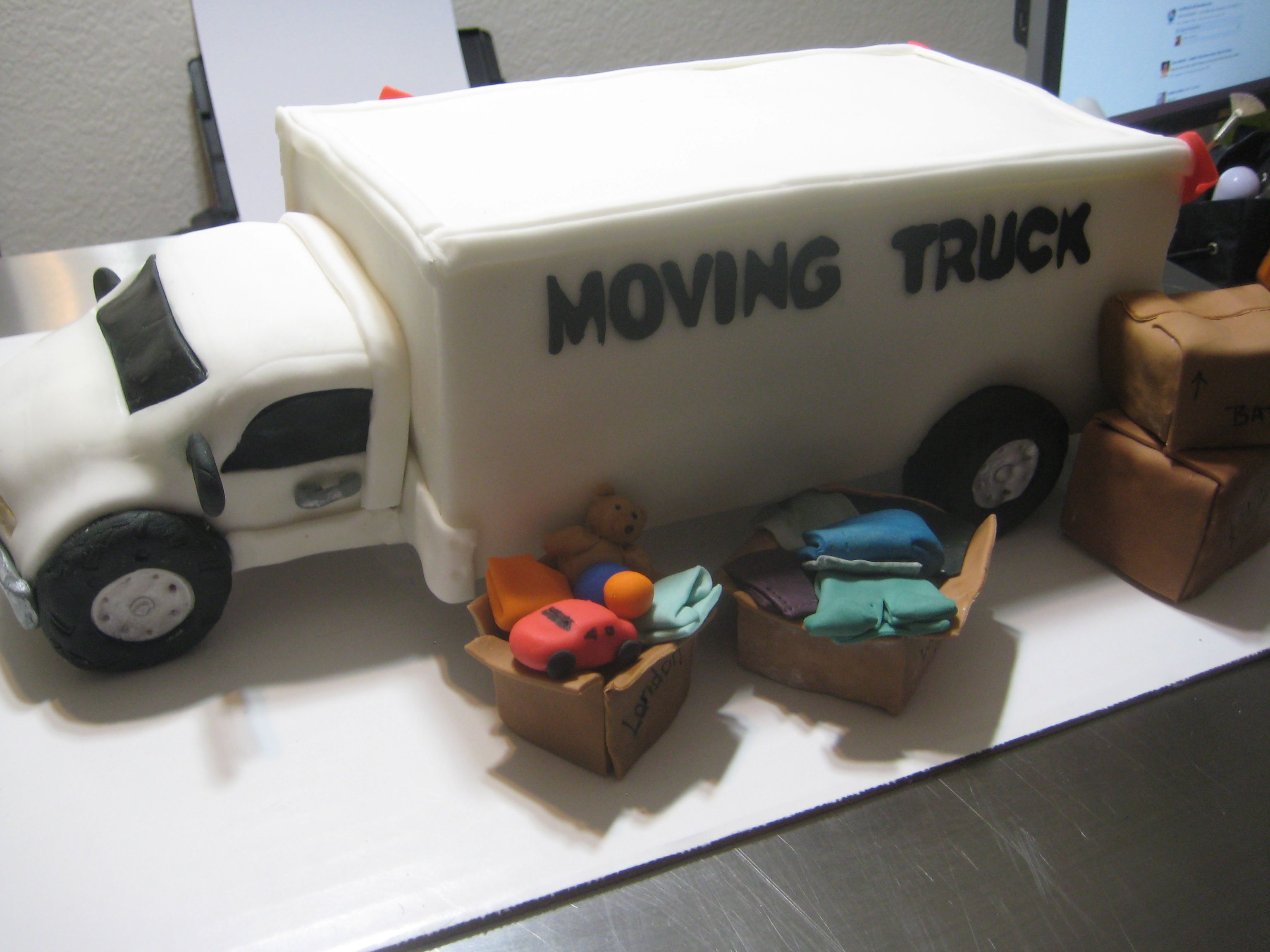 Moving Truck Cake Moving Truck Housewarming Party Decorations