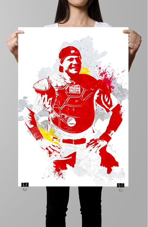 Yadier Molina St Louis Cardinals Sports Poster Fan Art Sports - Yadier molina wall decals